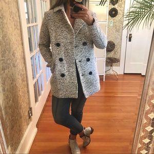 Forever 21 • Wool • Cream & Black • Coat • NWT